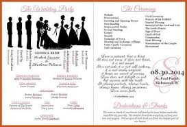 Fan Wedding Program Template Wedding Program Templates Sop Example