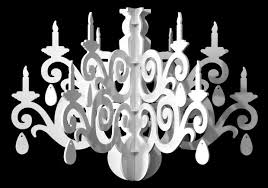 Easy To Draw Chandelier Large Silhouette Chandelier Decoration The Grandelier 3 Steps