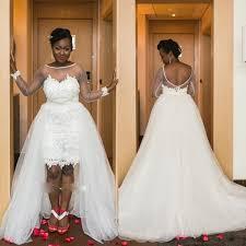 dh com wedding dresses image plus size lace wedding dresses high low applique tulle
