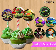 tmnt cake topper mutant turtles cupcake toppers instant