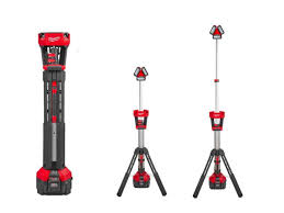 milwaukee m18 trueview led stand light milwaukee m18hsal 0 m18 rocket led tower light 110v output bare unit
