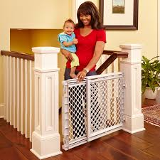 baby safety gates for top of stairs pressure mounted baby stair
