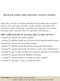 Sales Sample Resume by Top 8 Real Estate Sales Executive Resume Samples 1 638 Jpg Cb U003d1431768235