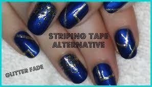 nail art striping tape alternative and glitter fade gel polish