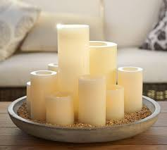 Home Decor Candles Decor U0026 Tips Remote Control Flameless Candles And Serving Tray
