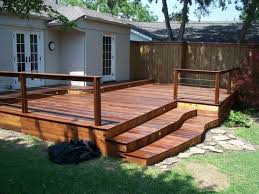 wooden deck with steps in the backyard homemade cleaner for