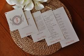 layered wedding programs wedding program wiregrass weddings