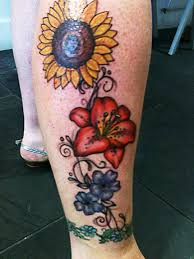 lower leg flowers tattoo designs in 2017 real photo pictures