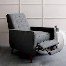 west elm reclining sofa mid century modern recliner dosgildas com