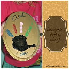 gettin u0027 crafty handprint turkey plaque thanksgiving craft eat