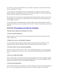sample marketing cover letter 20 application cover letter format