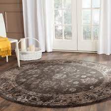 8 Round Braided Rugs by Safavieh Vintage Soft Anthracite 8 Ft X 8 Ft Round Area Rug