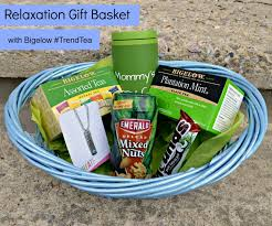 Relaxation Gift Basket Relaxing With Bigelow Trendtea One Artsy Mama