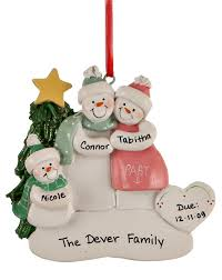 family of 3 ornaments astonishing snowman on