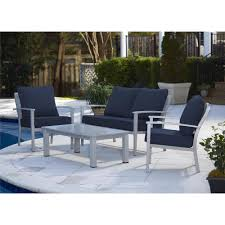 Grey Wicker Patio Furniture - blue gray patio conversation sets outdoor lounge furniture