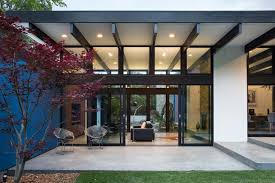 eichler style home hillside eichler inspired residence in california atrium house