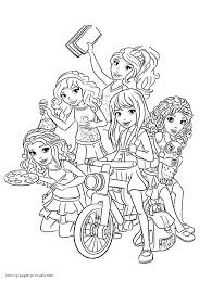 lego friends coloring pages print