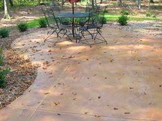 Color Concrete Patio by Stained Concrete Walkway Landscape U0026 Outdoor Living Ideas