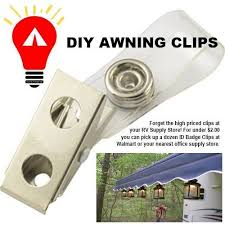 Awning Lights For Rv Camping Ideas Id Badge Awning Clips Camping Ideas Pinterest