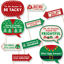 funny ugly sweater photo booth props christmas party photo