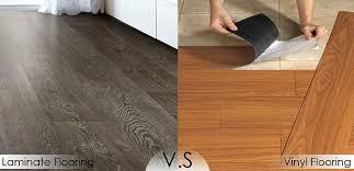 how to choose between laminate vinyl flooring interior design