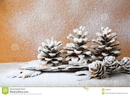 christmas background with pine cones decorations stock image