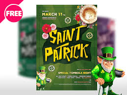 saint patricks day free flyer template psd by free download psd