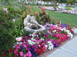 Garden Flowers Ideas Beautiful Garden With Flowers Design Decoration