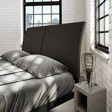 Black Upholstered Headboard Queen by Amisco Industries 60 Inch Black Coral Reflex Metal Bed With Dark