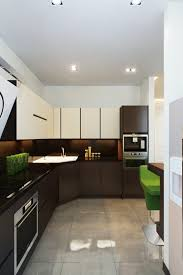 Two Tone Kitchen Cabinets Black And White L Shaped Clear Glaze Mahogany Wood Kitchen Cabinet Using Black