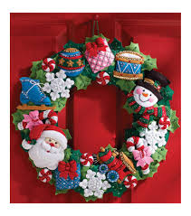 bucilla wreath felt applique kit toys joann