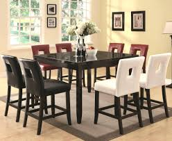 counter high dining room sets pub dining room sets counter height with bench style storage