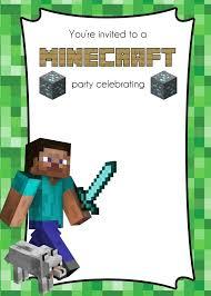 free printable birthday invitations minecraft minecraft invitation card silverstores info