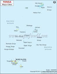 tonga map tonga cities map major cities in tonga