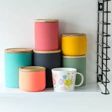 brightly coloured storage canister perfect storage for tea coffee
