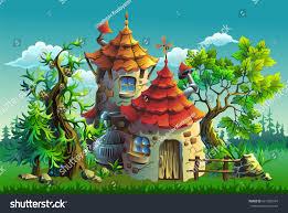cartoon vector illustration fairy tales house stock vector