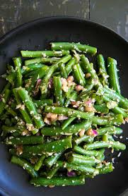 green bean dish for thanksgiving green bean salad with basil balsamic and parmesan recipe