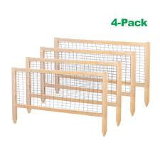greenes fence critterguard 23 5 in cedar garden fence 4 pack
