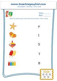Free Printable First Grade Phonics Worksheets Free Printable English Worksheet Match The Objects With The