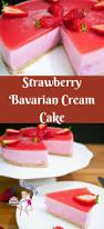 strawberry bavarian cream cake recipe veena azmanov