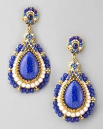Beaded Chandelier Clip Earrings White Jose Maria Barrera Earrings Crystal Teardrop Earrings By Jose