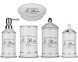 Shabby Chic Bathroom Accessories Sets Piece Le Bain Shabby Chic Ceramic White Bathroom Accessories Bath