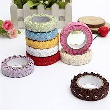 Decorative Scotch Tape Alcoa Prime 10 Pcs Decorative Lace Roll Washi Sticky Plastic Tapes