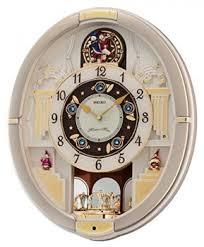 seiko qxm282brh melodies in motion clock wall of clocks