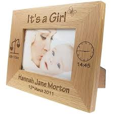 Engravable Baby Gifts Newborn Baby Gift Personalised Engraved Oak Photo Frame New