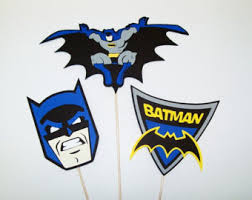 batman centerpieces set of 6 batman centerpiece picks batman birthday