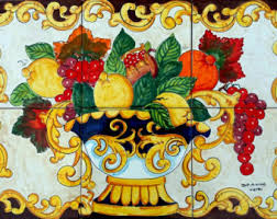 decorative kitchen backsplash tiles hand painted tile mural