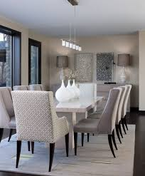 contemporary white and grey dining room color scheme dining room