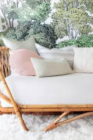 How To Cover A Loveseat With A Sheet by How To Style A Twin Bed Like A Sofa Or Daybed Emily Henderson