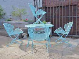 Vintage Woodard Patio Furniture by 1950s Salterini Patio Table And Chairs At 1stdibs